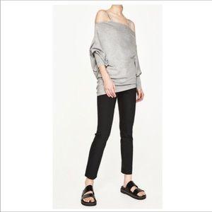 Zara Knitwear cold shoulder top. New. Tags. medium